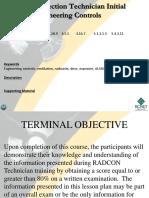Rp Technician Training Engineering Controls