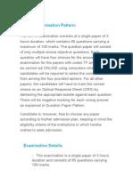GATE Examination Pattern