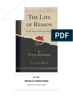 Life of Reason Vol. I -- Common Sense (Santayana)
