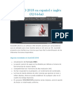 AutoCAD 2018 en Español e Inglés