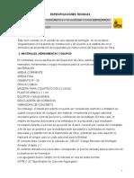 ESPECIFICACIONES TECNICAS ALCALDIA