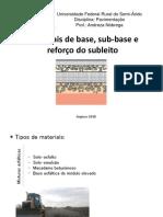 Aula 7 - Materiais de Base, Sub-base e Reforço Do Subleito - III