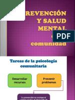Prevencion y salud mental en la comunidad