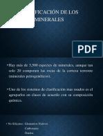 Clasificación de Los Minerales