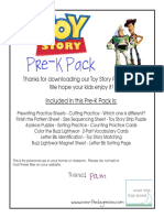 Toy Story Pre k Pack