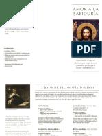 Folleto de cursos de filosofía