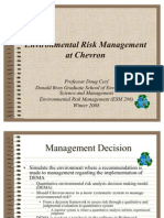 Chevron Environmental Risk Management