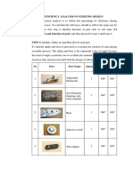 Design Efficiency Analysis on Existing Design Example