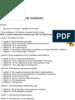 01. LEY GENERAL DE SANIDAD | el celador sanitario