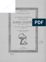 La physique contemporaine et l'oeuvre d'Albert Einstein