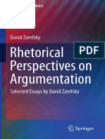 (Argumentation Library 24) David Zarefsky (Auth.)-Rhetorical Perspectives on Argumentation_ Selected Essays by David Zarefsky-Springer International Publishing (2014)