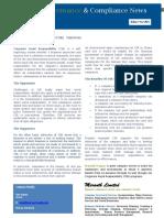 Corporate Social Responsibility 03.15