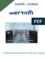 Meranth Brochure Single Side A5 New 2018