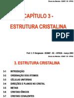 Estrutura Cristalina - Cap 3