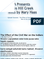 RWSA Presents James Hill Creek Texts by Mary Haas Episode 3