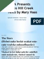 RWSA Presents James Hill Creek Texts by Mary