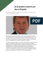 Confirmada La Primera Muerte Por Escopolamina en España