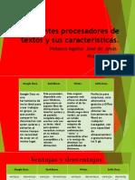 Diferentes Procesadores de Textos y Sus Características