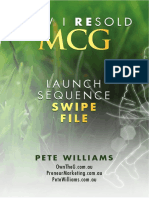 Own the 'G Relaunch Swipe File by Pete Williams