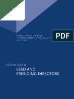 Cornerstone Lead Presiding Director 0306