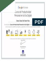Curso de Productividad Personal en la Era Digital de Google Activate