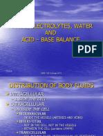 Fluids Electrolytes Water and Acid - Base Balance