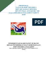 Proposal Futsal SD 2018