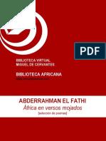 Africa en Versos Mojados Seleccion de Poemas