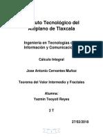Teorema Del Valor Intermedio y Fractales