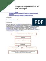 Procedimiento Para La Implementacion de La Planificacion Estrategica
