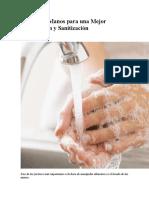 Lavado de Manos Para Una Mejor Desinfección y Sanitización