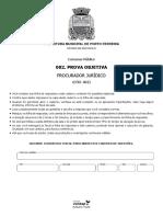 Vunesp 2017 Prefeitura de Porto Ferreira Sp Procurador Juridico Prova