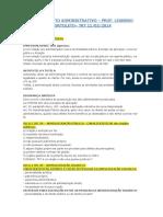 Revisão TRT SP - Direito Administrativo - Prof. Leandro - 11-02-2014