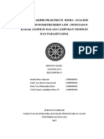 Laporan Derivatif Farmasi Universitas Udayana