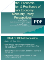 Global Economic Recession & Resilience of India's Economy111