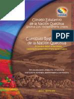 Curriculo Armonizado de La Nacion Quechua. Oficial