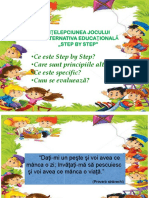 Intelepciunea Jocului in Alternativa Educationala Step by Step CEP II 2015