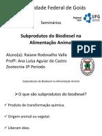 Subprodutos Do Biodiesel Na Alimentaçao Animal