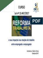 Apostila Reforma Trabalhista