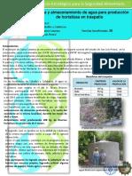 Cosecha y Almacenamiento de Agua Para Producción de Hortalizas en Traspatio