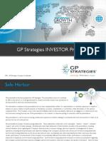 GP Strategies Investor Presentation August 2016