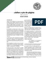 Daniel Calmels Wallon a Pie de Página