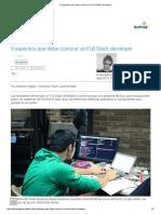 9 Aspectos Que Debe Conocer Un Full Stack Developer