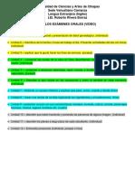 Temas Por Unidad de Los Exámenes Orales