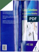 Código Colombiano Ntc 1500 - Tercera Edición