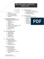 Committees Checklist
