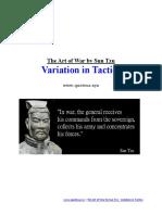 The Art of War by Sun Tzu - Variation in Tactics