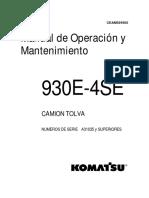 930E-4SE O&M A31035 Controles de La Cabina