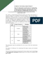 Electrical Distribution System - Tender Format