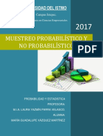 Muestreo Probabilistico y No Probabilistico (Resumen)